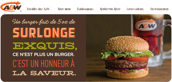 AW Restaurants en ligne