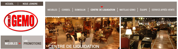 Gemo meubles for Liquidation meuble gemo granby