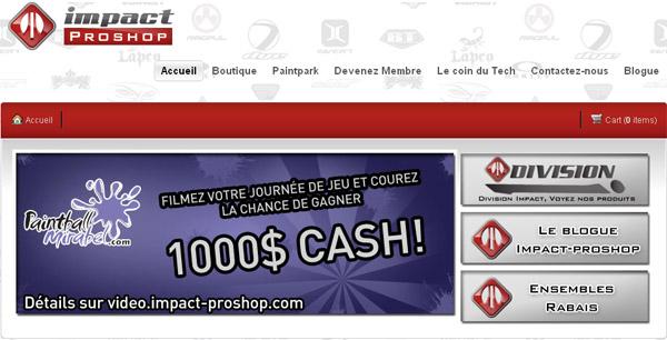 Impact Proshop Mirabel en ligne
