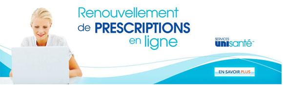 Pharmacie Uniprix en ligne renouvellement prescriptions Circulaire Uniprix
